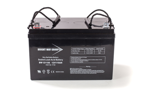 Bright Way Group BW 121100 Z (Group 30H) 110Ah 12V (@10hr) AGM Sealed Lead Acid Battery