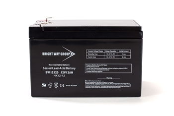 Bright Way Group BW 12120 F1 12Ah 12V (@10hr) AGM Sealed Lead Acid Battery
