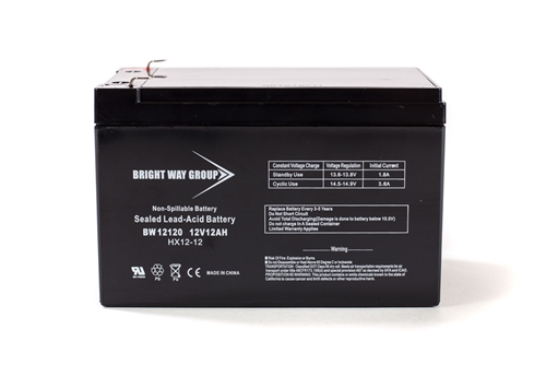 Bright Way Group BW 12120 F2 12Ah 12V (@10hr) AGM Sealed Lead Acid Battery