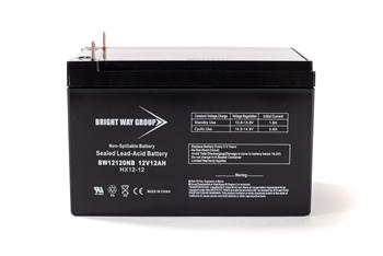 Bright Way Group BW 12120 NB 12Ah 12V (@10hr) AGM Sealed Lead Acid Battery