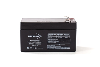 Bright Way Group BW 1213 1.3Ah 12V AGM Sealed Lead Acid Battery