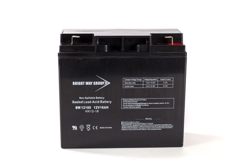 Bright Way Group BW 12180 F2 18Ah 12V (@10hr) AGM Sealed Lead Acid Battery