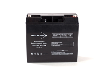 Bright Way Group BW 12180 IT 18Ah 12V (@10hr) AGM Sealed Lead Acid Battery