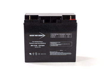 Bright Way Group BW 12180 NB 18Ah 12V (@10hr) AGM Sealed Lead Acid Battery