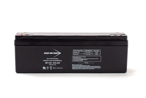 Bright Way Group BW 1222 2.2Ah 12V (@10hr) AGM Sealed Lead Acid Battery