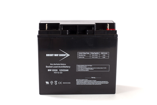 Bright Way Group BW 12220 NB 22Ah 12V (@10hr) AGM Sealed Lead Acid Battery