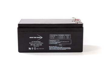 Bright Way Group BW 1234 3.4Ah 12V (@10hr) AGM Sealed Lead Acid Battery