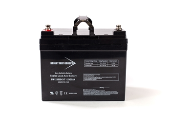 Bright Way Group BW 12350 IT (Group U1) 35Ah 12V (@10hr) AGM Sealed Lead Acid Battery