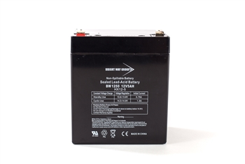 Bright Way Group BW 1250 F1 5Ah 12V (@10hr) AGM Sealed Lead Acid Battery
