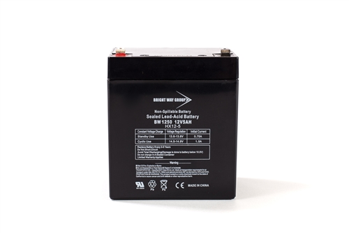 Bright Way Group BW 1250 F2 5Ah 12V (@10hr) AGM Sealed Lead Acid Battery