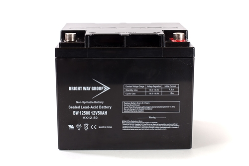 Bright Way Group BW 12500 IT 50Ah 12V (@10hr) AGM Sealed Lead Acid Battery