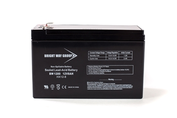 Bright Way Group BW 1280 F1 8Ah 12V (@10hr) AGM Sealed Lead Acid Battery