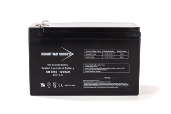 Bright Way Group BW 1280 F2 8Ah 12V (@10hr) AGM Sealed Lead Acid Battery