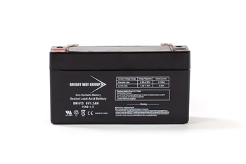 Bright Way Group BW 613 1.3Ah 6V AGM Sealed Lead Acid Battery