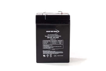 Bright Way Group BW 645 4.5Ah 6V AGM Sealed Lead Acid Battery