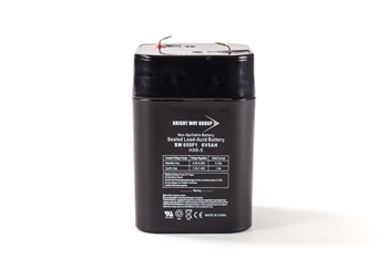 Bright Way Group BW 650F Lantern 5Ah 6V AGM Sealed Lead Acid Battery