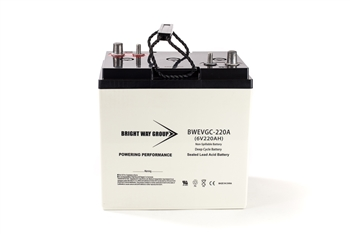 Bright Way Group BW EVGC6-220A 220Ah 6V (@10hr) AGM Sealed Lead Acid Battery