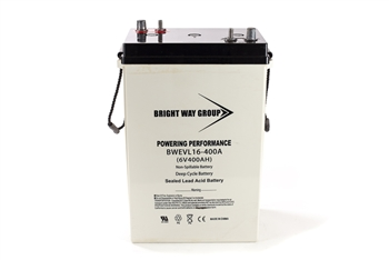 Bright Way Group BW EVL16 400A 400Ah 6V (@10hr) AGM Sealed Lead Acid Battery