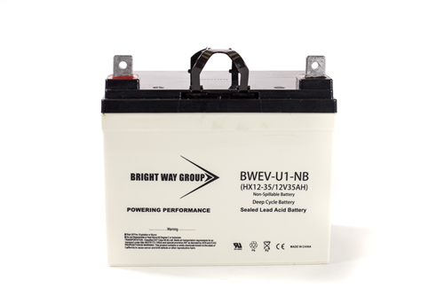 Bright Way Group BW EVU1 NB (Group U1) 35Ah 12V (@10hr) AGM Sealed Lead Acid Battery