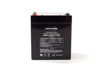 Bright Way Group BW HR 12-30W FR 5Ah 12V (@10hr) AGM Sealed Lead Acid Battery