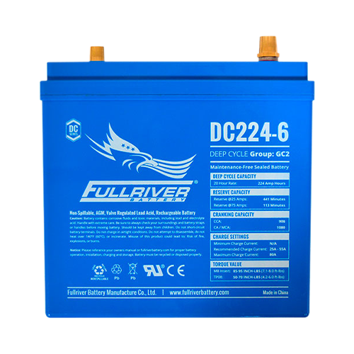 Fullriver DC224-6 > 6V, 224Ah, Sealed AGM Battery