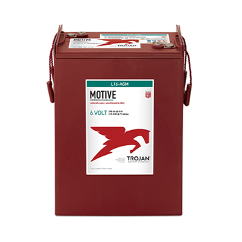 Trojan Motive L16-AGM 370Ah 6VDC Group 903 Deep-Cycle AGM Battery