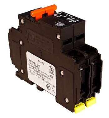 Midnite Solar Two Pole Breaker MNEAC20-2P > 20Amp, 120/240VAC, DIN Rail Mount