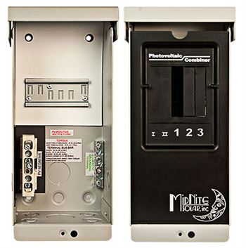 Midnite Solar MNPV2-1000 > Combiner Box Enclosure, Accepts 2 - 1000VDC Fuse Holders