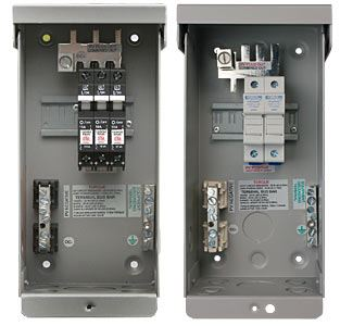 Midnite Solar MNPV3 > PV Combiner Box Enclosure, Accepts 3 - 150VDC Breakers