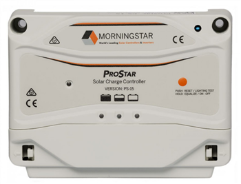Morningstar PS-15 > 15Amp 12/24VDC ProStar PWM Charge Controller w/o Meter