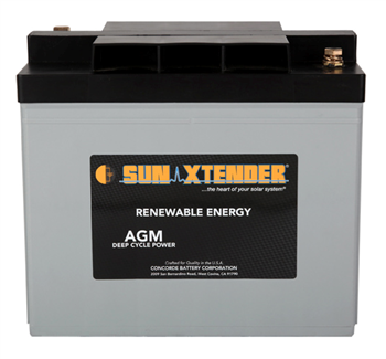 Concorde SunXtender PVX-1030T > 6V, 103Ah, Deep Cycle AGM Battery, Grp 24