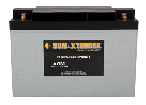 Concorde SunXtender PVX-1080T > 12V, 108Ah, Deep Cycle AGM Battery, Grp 31