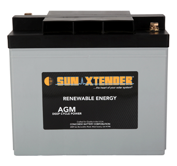 Concorde SunXtender PVX-1380T > 6V, 138Ah, Deep Cycle AGM Battery, Grp 24