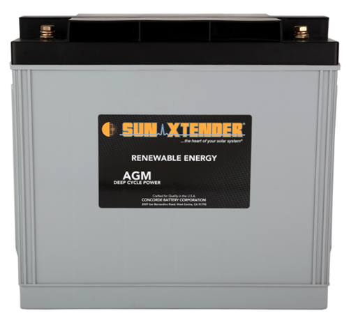 Concorde SunXtender PVX-1530T > 12 Volt, 153Ah, Deep Cycle AGM Battery, Grp 30H Tall