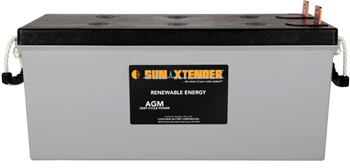 Concorde SunXtender PVX-2120L > 12V, 212Ah, Deep Cycle AGM Battery, Grp 4D