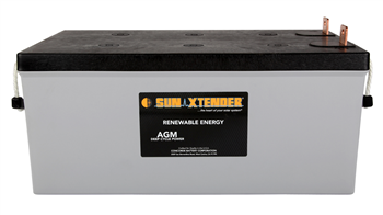 Concorde SunXtender PVX-2580L > 12V, 258Ah, Deep Cycle AGM Battery, Grp 8D