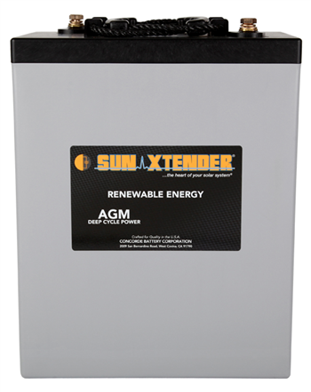Concorde SunXtender PVX-3050T > 6V, 305Ah, Deep Cycle AGM Battery, Grp GC2 Tall