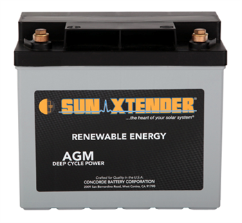 Concorde SunXtender PVX-340T > 12V, 34Ah, Deep Cycle AGM Battery, Grp U1