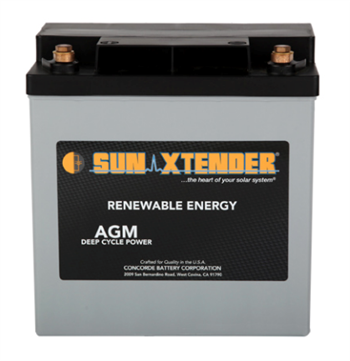 Concorde SunXtender PVX-420T > 12V, 42Ah, Deep Cycle Battery with AGM Construction, Grp U1 Tall