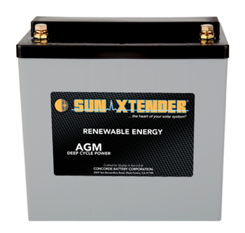 Concorde SunXtender PVX-490T > 12V, Deep Cycle Battery with AGM Construction, Grp 22NF