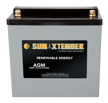 Concorde SunXtender PVX-560T > 12V, 56Ah, Deep Cycle AGM Battery, Grp 22NF