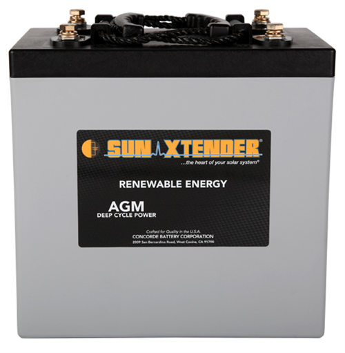 Concorde SunXtender PVX-6720T > 2V, 672Ah, Deep Cycle AGM Battery, Grp GC2