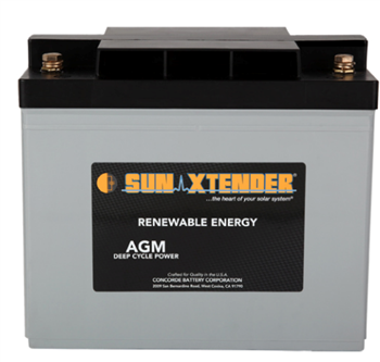 Concorde SunXtender PVX-690T > 12V, 69Ah, Deep Cycle AGM Battery, Grp 24