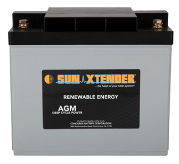 Concorde SunXtender PVX-840T > 12V, 84Ah, Deep Cycle AGM Battery, Grp 24