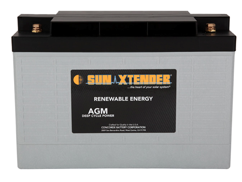 Concorde SunXtender PVX-890T > 12V, 89Ah, Deep Cycle AGM Battery, Grp 31