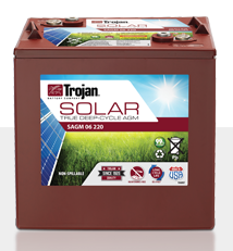 Trojan SAGM 06 220 > 26V, 31Ah, Solar Deep-Cycle AGM Battery