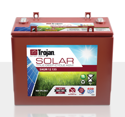 Trojan SAGM 12 135 > 12V, 137Ah, Solar Deep-Cycle AGM Battery