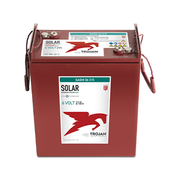 Trojan SAGM-06-315 315Ah 6VDC Deep-Cycle Solar AGM Battery