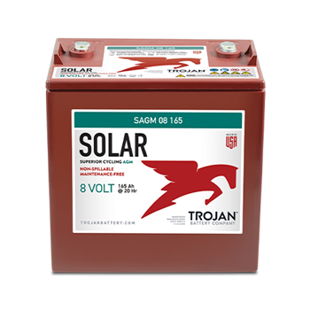 Trojan SAGM-08-165 165Ah 8VDC Deep-Cycle Solar AGM Battery