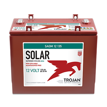 Trojan SAGM-12-135 135Ah 12VDC Deep-Cycle Solar AGM Battery